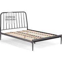 Alana King Size Bed, Black Nickel