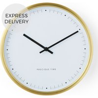 Product photograph showing Aurelia Wall Clock Brushed Brass
