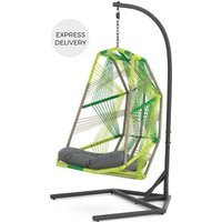 Product photograph showing Copa Garden Hanging Chair Citrus Green