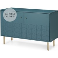 Hedra Sideboard, Teal and Brass