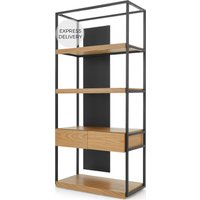 Travers Shelving Unit, Black Metal and Ash