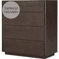 Lecki Chest Of Drawers, Walnut & Stainless Steel