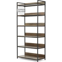 Lomond Modular Wide Shelves, Mango Wood and Black