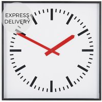 Product photograph showing Howell Station Square 40cm Wall Clock Matt Black