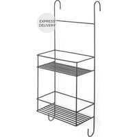 Product photograph showing Made Essentials Calypso Metal Shower Caddy Black