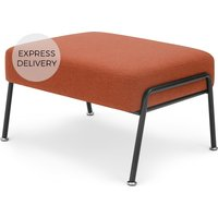 Product photograph showing Knox Footstool Retro Orange