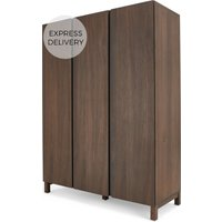 Product photograph showing Xander Triple Wardrobe Walnut
