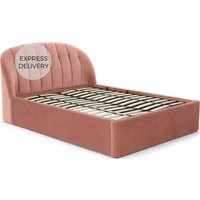Margot Super King Storage Bed, Blush Pink Velvet