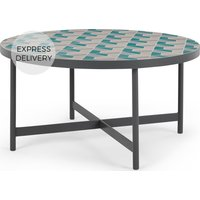 Product photograph showing Indra Garden Coffee Table Pink And Green