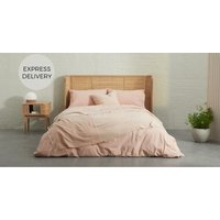 Product photograph showing Enya 100 Organic Cotton Bed Throw Plaster Pink