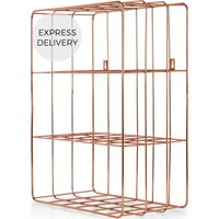 Bendt Wire Wall Unit, Copper