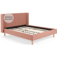 Tilia Quilted Kingsize Bed, Dusk Pink