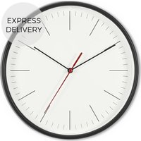 Product photograph showing Made Essentials Morley Wall Clock Black And White