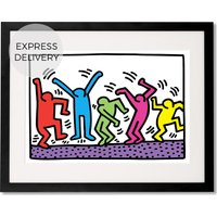Product photograph showing Untitled By Keith Haring 40 X 50cm Framed Wall Art Print