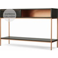 Product photograph showing Anderson Console Table Mocha Mango Wood And Copper