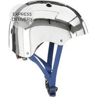 Made X Bobbin Bike Helmet, Chrome With Navy Strap S/m