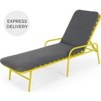 Product photograph showing Made Essentials Tice Garden Sun Lounger Chartreuse