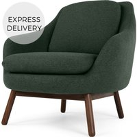 Oslo Accent Chair, Woodland Green with Dark Stained Legs