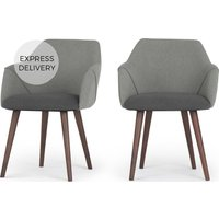Product photograph showing Set Of 2 Lule Carver Dining Chairs Marl And Hail Grey