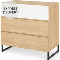 MADE Essentials Hopkins Chest Of Drawers, Oak Effect & White