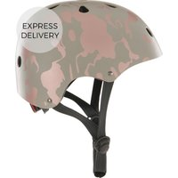 Made X Bobbin Printed Bike Helmet, Grey And Dark Rose Gold S/m