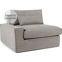 'Trent Loose Cover Modular Left Hand Facing Sofa Arm, Washed Grey Cotton