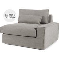 'Trent Loose Cover Modular Right Hand Facing Sofa Arm, Washed Grey Cotton