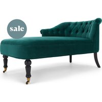Bouji Left Hand Facing Chaise, Seafoam Blue Velvet