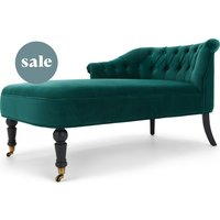 Bouji Left Hand Facing Chaise Longue, Seafoam Blue Velvet