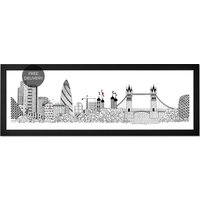 Tower Bridge by Charlene Mullen, 30 x 85 cm Framed Print