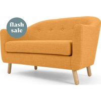 Lottie 2 Seater Sofa, Honey Yellow