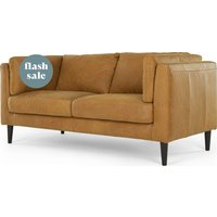 Lindon Large 2 Seater Sofa, Outback Tan Leather