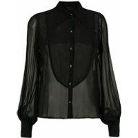 Andrea Bogosian camisa transparente de seda