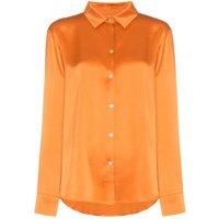 Asceno camisa estilo pijama de seda