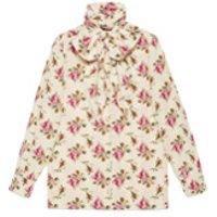 Gucci camisa de seda con estampado