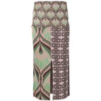 Circus Hotel falda de tubo de lurex - Marrón