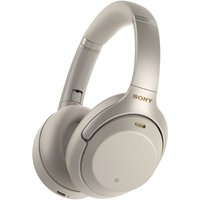 Sony WH-1000XM3 (silber) - Kabellose Noise Cancelling Kopfhörer (Bluetooth 4.2, NFC, Touch Control, Sprachassistent, aptX HD)