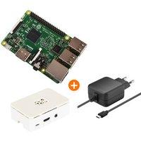 Raspberry Pi 3 Einsteiger Bundle [Raspberry Pi 3 + Netzteil + Gehäuse]