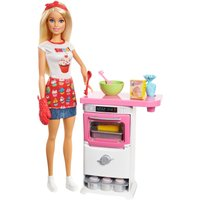 Barbie Career Dolls - Pasticcera con playset (FHP57)