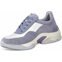 Tamaris Leather Trainers (1-1-23719-24-821) cosm sky comb