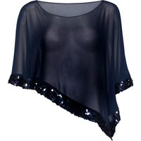 Chiffon Cape with Sequin Edge