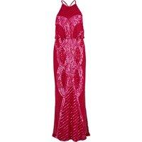 Beaded Blouson Maxi Dress