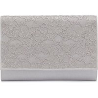 Crepe Chine and Metallic Lace Bag