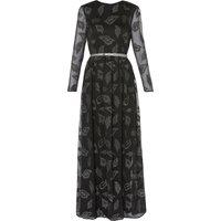 Alicia Chiffon Belted Maxi Dress