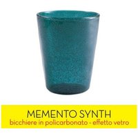 Image of BICCHIERE ME SYNTH GLASS - PETROL
