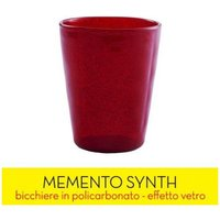 Image of BICCHIERE ME SYNTH GLASS - RED