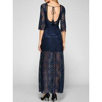 Backless Maxi Prom Long Lace Evening Dress