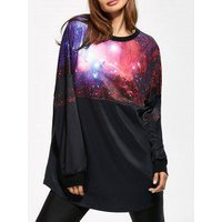 3d Galaxy Print Sweatshirt
