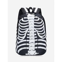 Noctilucence Skull Striped Backpack