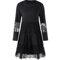 Lace Insert Dress With Slip Dress